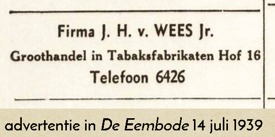 advertentie Eembode 14 juli 1939